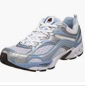ECCO white sneakers blue gray trim 10-10.5